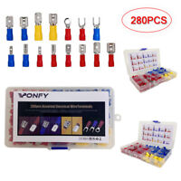 Ponfy 280PCS Assorted Crimp Spade Terminal Insulated Electrical Wire Connector