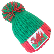 KARMA ACCESSORIES BIG BOBBLE WELSH DRAGON CAERPHILLY HAT ONE SIZE FITS ALL BH03