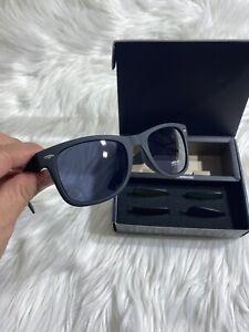 Marlboro B-day Box Black Sunglasses UV changeable Lenses Black/Blue/Gold Unisex