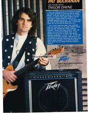 1990 PEAVEY Bandit Amplifier PAT BUCHANAN Vtg Print Ad