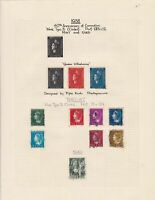 netherlands 1938 40th anniv. of coronation +1940/7 used stamps sheet ref 17837