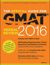 The Official Guide for GMAT Verbal Review 2016 with Online Question Bank and Exc