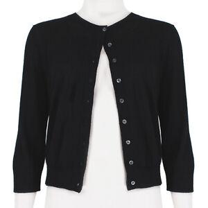 Michael Kors Black Cashmere Cardigan Knitwear M FR38 UK10