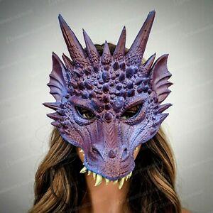 Blue & Purple Dragon Face Cosplay Halloween Costume Mask