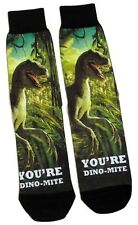 MENS DINO-MITE STUNNING DINOSAUR PHOTO SOCKS UK SIZE 6-11 / EUR 39-46 / USA 7-12