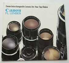 Photography Reference Guide For Canon FL Lenses