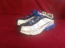NIKE sz 2.5Y Shox Blue White Black Running Shoes Youth Used.