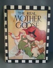 Vintage The Real Mother Goose Book 1944 Book Club Edition Colorful Ephemera