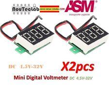 2pcs 0.36 Inch 4.5V-32V Mini Digital Voltmeter LED Screen Voltage Tester Meter