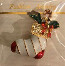 New - Fashion Jewelry Christmas Stocking Pin - Brand