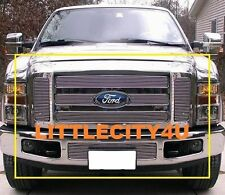 FOR 2008 2009 2010 FORD F250 / F350 SD BILLET GRILLE COMBO UPPER BUMPER InsertS