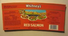 Wholesale Lot of 50 Old Vintage - Whitney's - RED SALMON - Can LABELS - Seattle
