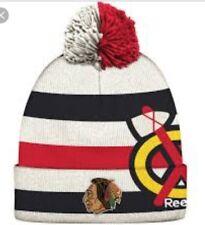 Chicago Blackhawks YOUTH Beanie Knit Hat With Pom  Reebok Winter Classic 2017
