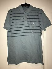 Calvin Klein mens slub classic fit heather stripe polo shirt Medium M