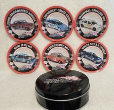 """Touring Cars-The Ultimate Collection Coasters x 6 In A Tin. """"VERY RARE""""  L@@K!!"""