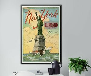 """1925 New York Illustrated POSTER! (up to full-size 24"""" x 36"""") - NYC - Vintage"""