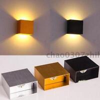 Modern LED Aluminium Square Wall Lamp Porch Walkway Living Room Light Fixture