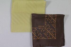 CERRUTI 1881 Lot of 2 silk pocket handkerchief made in Italy