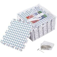 KnitIQ Blocking Mats for Knitting - Pack of 9 Extra Thick Boards with Grids, Box