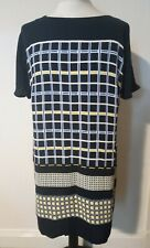 M&S Collection tunic Dress UK 18 Navy patterened NICE CONDITION