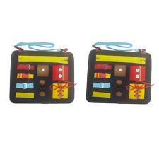 2x Portable Kid Activity Board Early Educational Life Motor Skills Gift