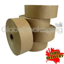 12 x rouleaux de plaine solide papier gommé eau activé de bande 48mm x 200M, 60GSM