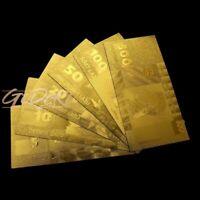 Lettland Lats Gold Banknote Latvia Geldschein Schein Note Goldfolie Karat Lati