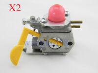 2x For Craftsman Poulan Weedeater Carburetor 530071752 530071822 ZAMA C1U-W18