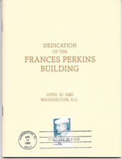 #1821 First Day Ceremony Program 15c Francis Perkins Stamp