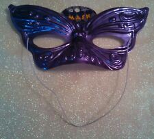 NWT Metallic Purple Butterfly Half Mask Cosplay Masquerade Role Play Costume