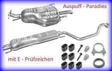 Abgasanlage Auspuff Opel Zafira A (F75_) 1.6 16V, 1.8 16V & 2.2 16V  + Kit
