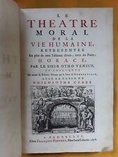 VENIUS OTHO - LE THEÂTRE MORAL DE LA VIE HUMAINE 1678 LIVRE ANCIEN RARE XVIIe