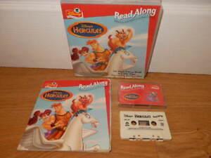 HERCULES ~ Disney Read Along ~ CASSETTE TAPE & Story BOOK Audio VINTAGE 1997