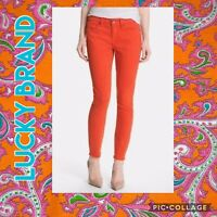 LUCKY BRAND ZOE STRAIGHT CROP JEAN IN ORANGE STRETCH DENIM BLEND~SIZE 10/30