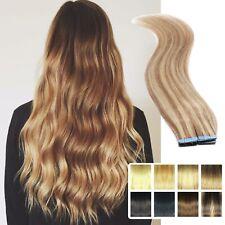 Tape In Pre-bonded Elegant 100% REAL Remy Human Hair Extensions Soft 25-5OG UK