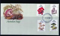 1981 Australian Fungi Set Of 4 First Day Cover, Mint Condition