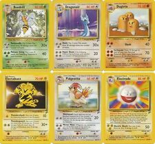 Pokemon Base set 2 RARE cards Dragonair Pidgeotto Snorlax Beedrill etc CHOOSE