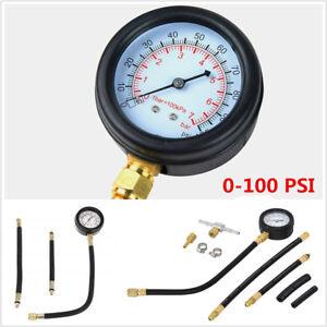 Car Fuel Injection Pump Injector Tester Test Pressure Gauge Gasoline 0-100 PSI