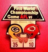 First World Champ Starline Super Bowl I (1) Packers - Chiefs Collector Pin -Rare