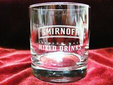 Smirnoff premium Glass malt NEW Vodka 8oz Etched Tumbler  Rocks Old-Fashioned