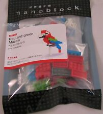Nanoblock Mini Red and green Macaw - japan building toy block NBC_034 worldwide