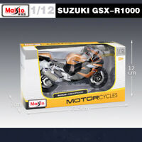 New Maisto 31106 1:12 Scale SUZUKI GSX-R1000 Motorcycle Diecast Model Toys