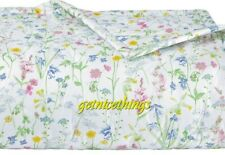 Yves Delorme Beaucoup Pastel Floral White Quilted Coverlet 100% Cotton $600 NEW