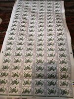 Full Sheet of the 1967 British Wild Flowers 9d stamps