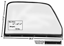 1950-50 CHEVY PU DOOR WINDOW GLASS LH 47-50 W/BLACK