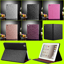 The New iPad 4 4G Gen 3 3rd 2 PU Leather Folio Case Magnetic Smart Cover + Stand