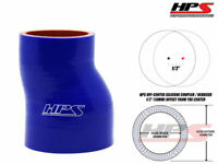 """6"""" LONG HPS 2.5"""" - 3"""" 63mm - 76mm 4-Ply Silicone Turbo Offset Reducer Hose BLUE"""