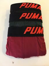Puma Tech Boxer Brief size Medium Cool Cell Lycra Stretch black/maroon/green