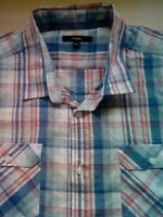 Mens George Short Sleeve Check Shirt Size XXL