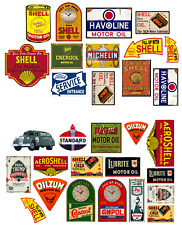 1/18 scale Pre-cut Vintage style Garage sign gloss stickers/ diorama/model car.3